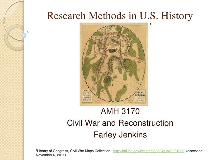 Research Methods in U. S. History