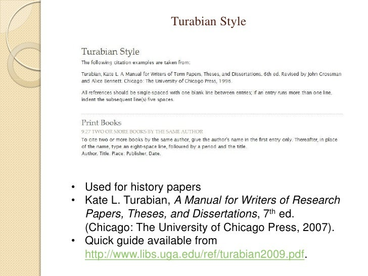 kate turabian research papers