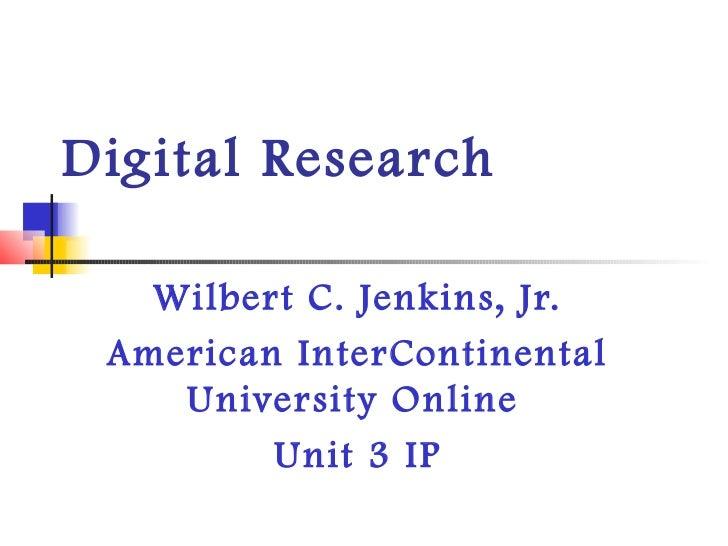 Jenkins jr edu600 ip 3 digital research