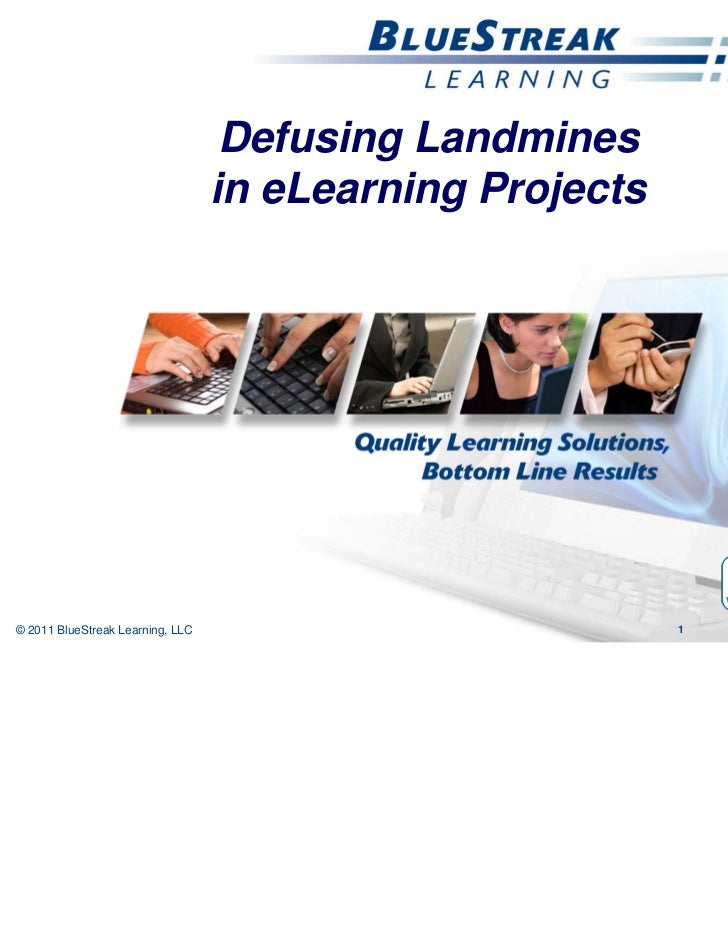 CETS 2011, Jennifer De Vries, slides for Defusing Landmines in eLearning Projects