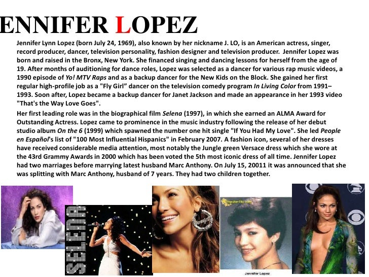 Jennifer Lopez Case Study