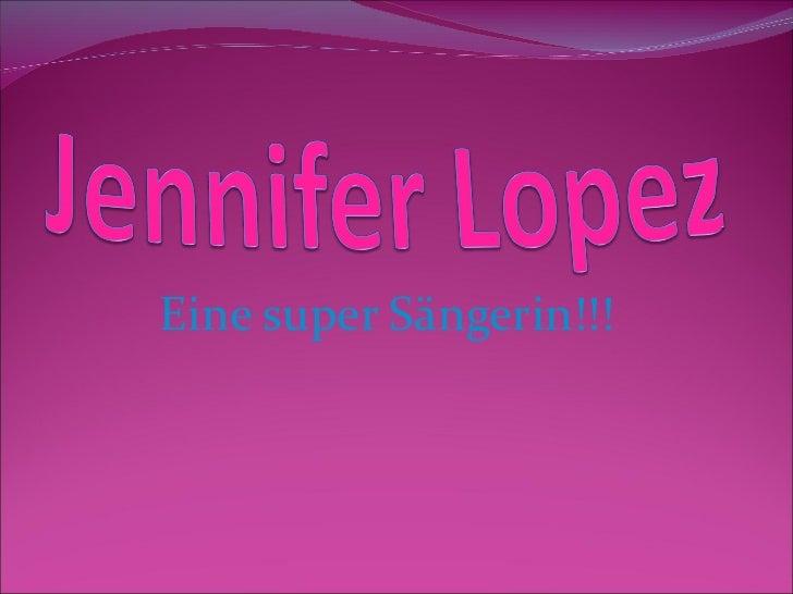 Eine super Sängerin!!!