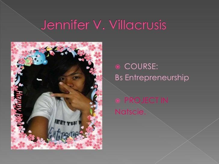 Jennifer V. Villacrusis /proj.natscie