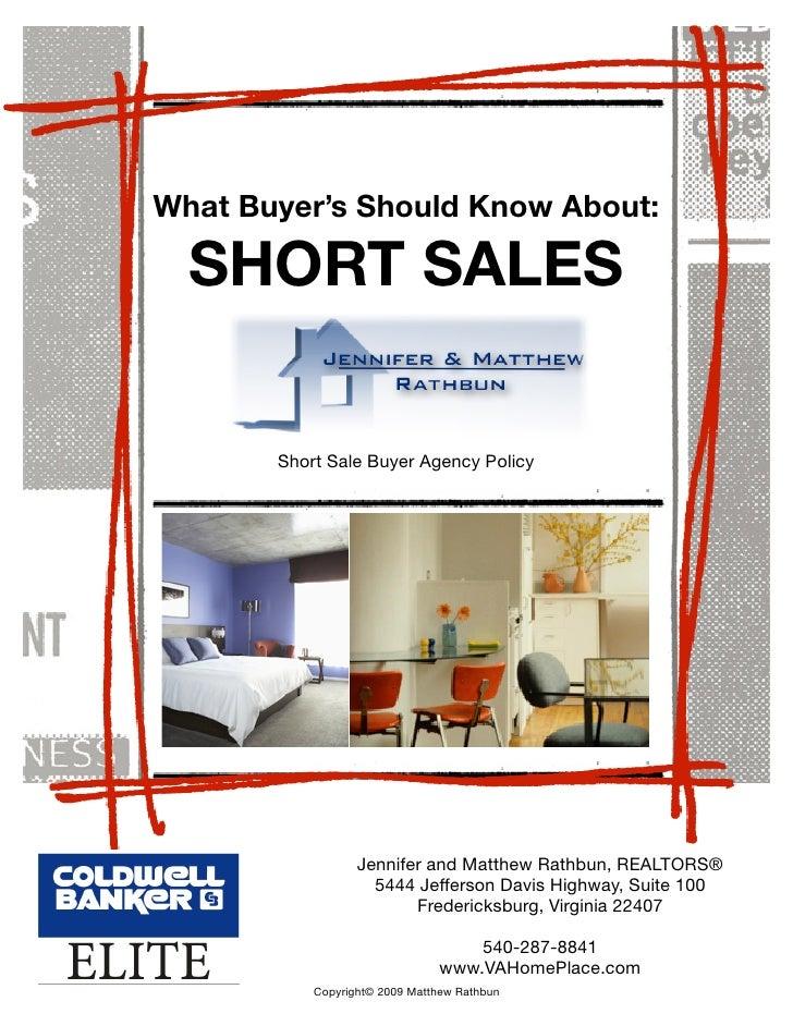 Buyer Disclosure for Virginia Short Sales