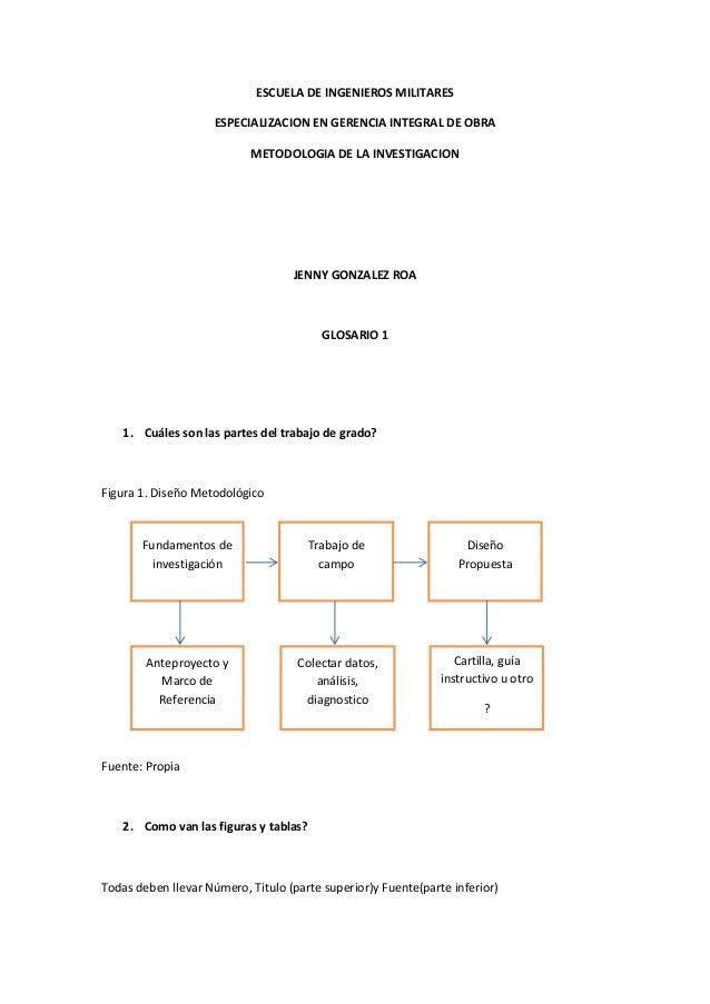 ESCUELA DE INGENIEROS MILITARES                     ESPECIALIZACION EN GERENCIA INTEGRAL DE OBRA                          ...
