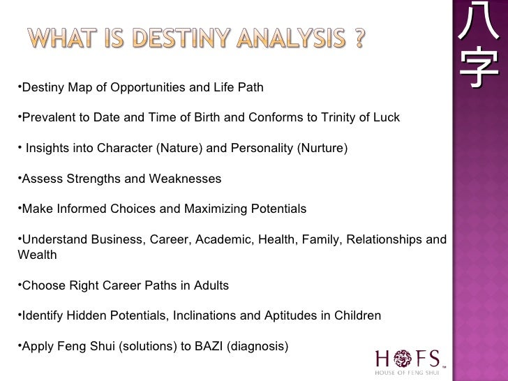 <ul><li>Destiny Map of Opportunities and Life Path </li></ul><ul><li>Prevalent to Date and Time of Birth and Conforms to T...