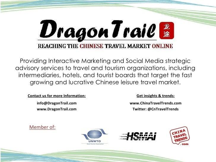 Providing Interactive Marketing and Social Media strategic advisory services to travel and tourism organizations, includin...