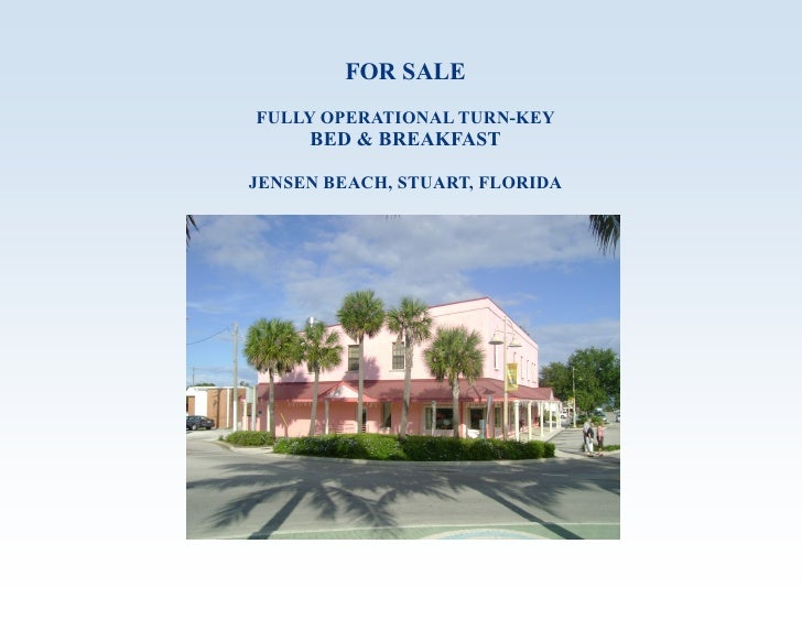Jensen Beach Bed And Breakfast For Sale