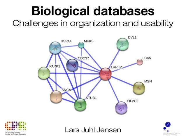 Biological databases Challenges in organization and usability Lars Juhl Jensen