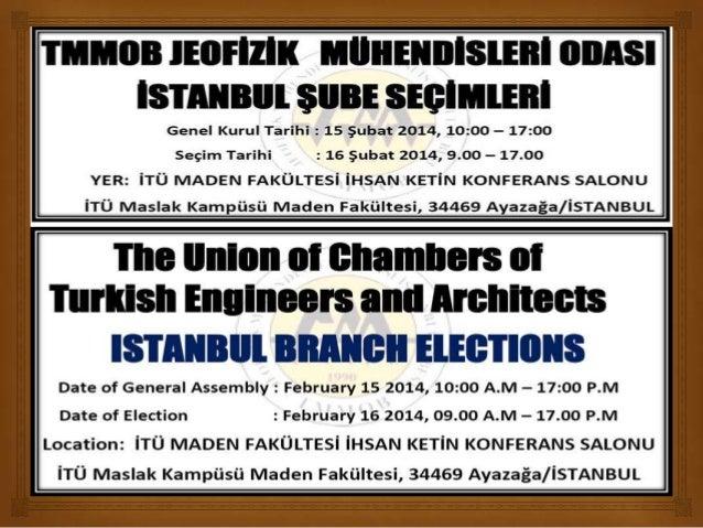 İstanbul Jeofizik Şube Seçime Gidiyor