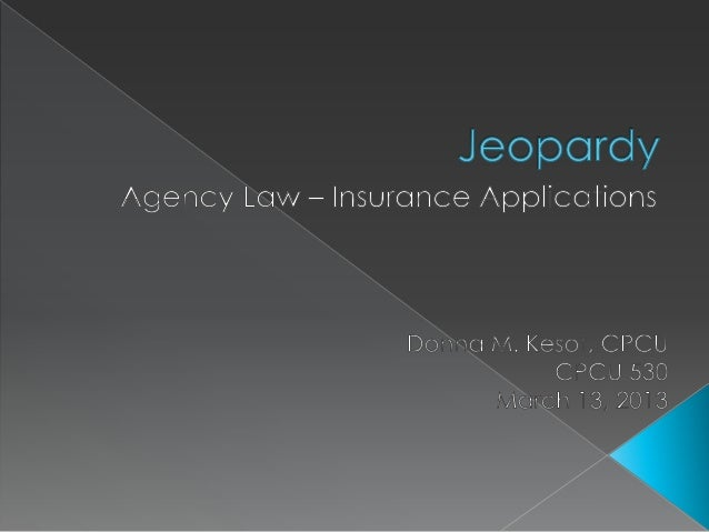 Contractual              Insurance              Parties                 Miscellaneous  Rights                Application  ...