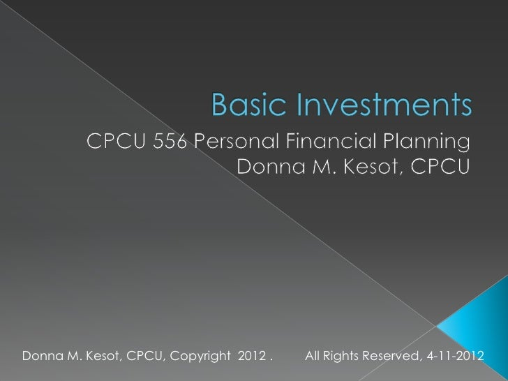 Donna M. Kesot, CPCU, Copyright 2012 .   All Rights Reserved, 4-11-2012