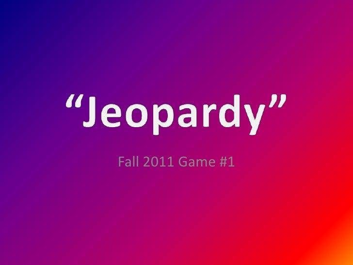 Jeopardy 11 31 11