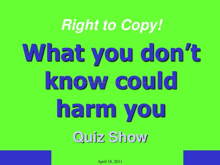 "Right to Copy!What you don't know could    term ""piracy"" has been used to refer to the unauthorized manufacturing and sell..."