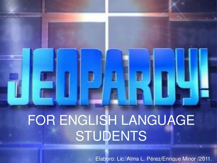 Jeopardy for english students