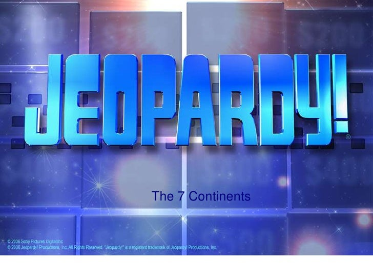Jeopardy game  f
