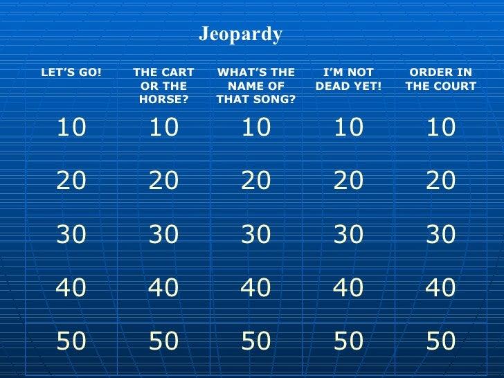 Jeopardy part 1 thursday