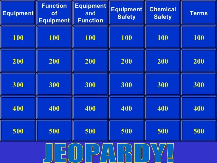 Function Equipment                              Equipment   ChemicalEquipment     of       and                           T...