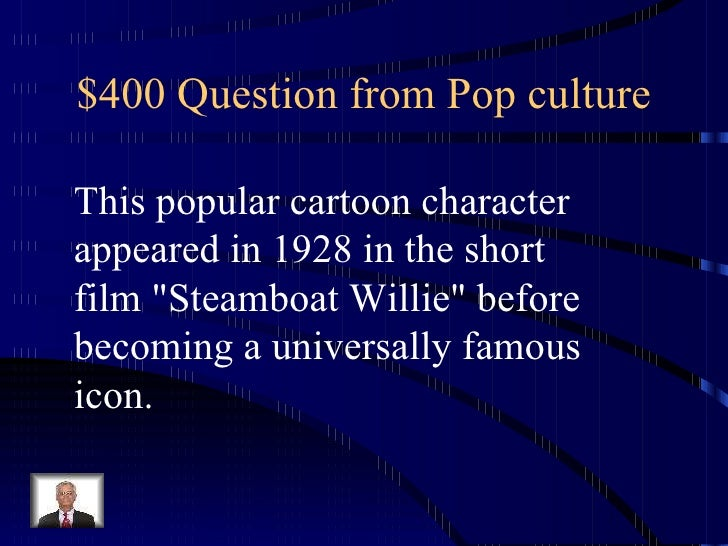 Cartoon Characters Jeopardy : Jeopardy usa
