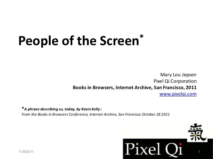 People of the                                  Screen*                                                                    ...
