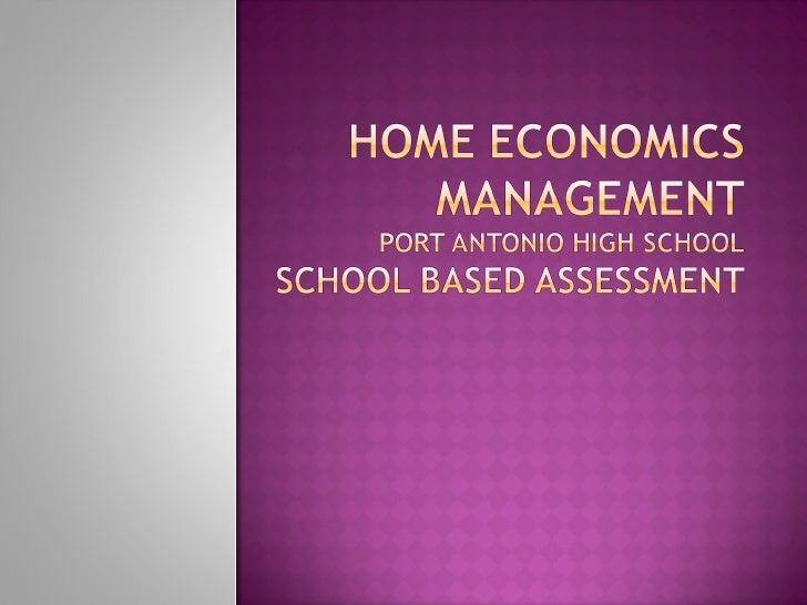 Home Economic Management