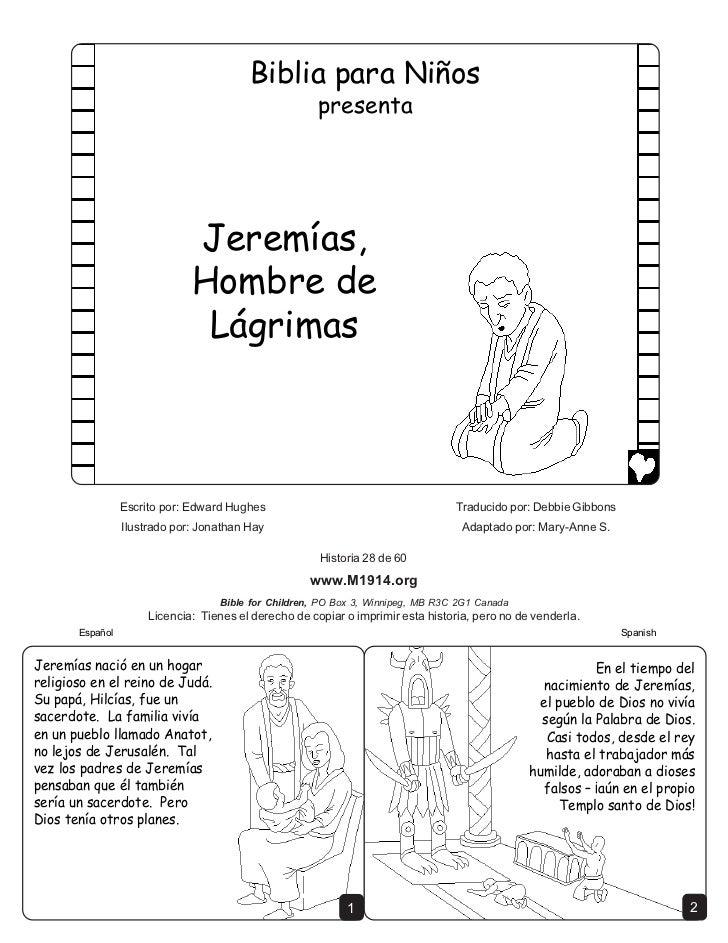 Jeremiah man of tears spanish cb6