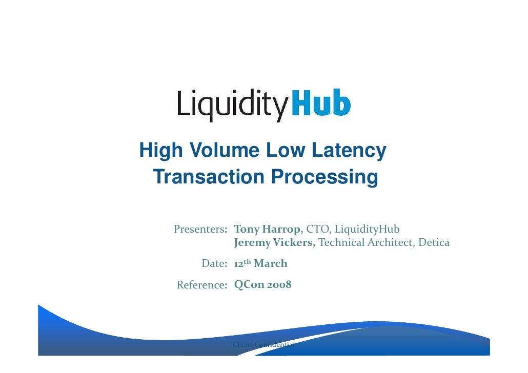 Jeremy Vickers Liquidity Hub