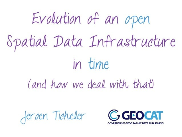 Evolution of an open Spatial Data Infrastructure in time (and how we deal with that) Jeroen Ticheler