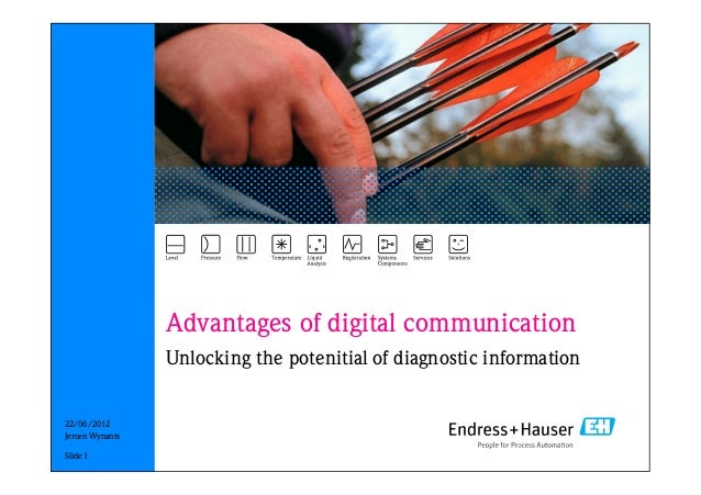 22/06/2012 Advantages of digital communication Unlocking the potenitial of diagnostic information Slide 1 Jeroen Wynants