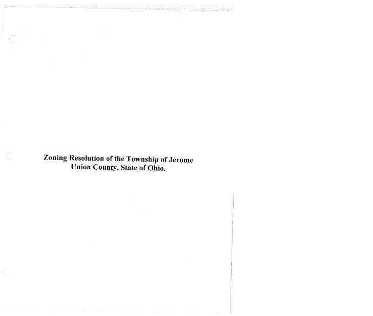 Jerome Township Zoning Resolution