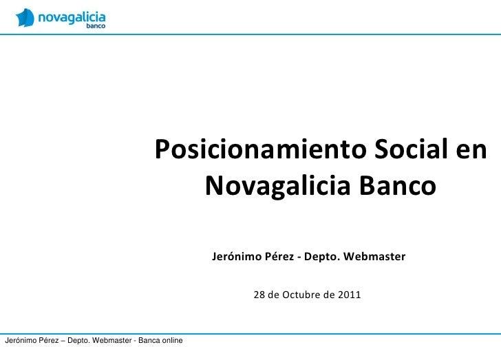 Posicionamiento Social en                                            Novagalicia Banco                                    ...