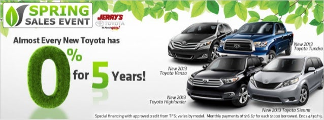 Spring Sales Event at Jerrys Toyota in Baltimore, Maryland