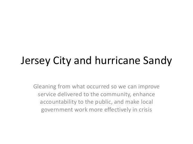 Jersey City Hurricane Sandy