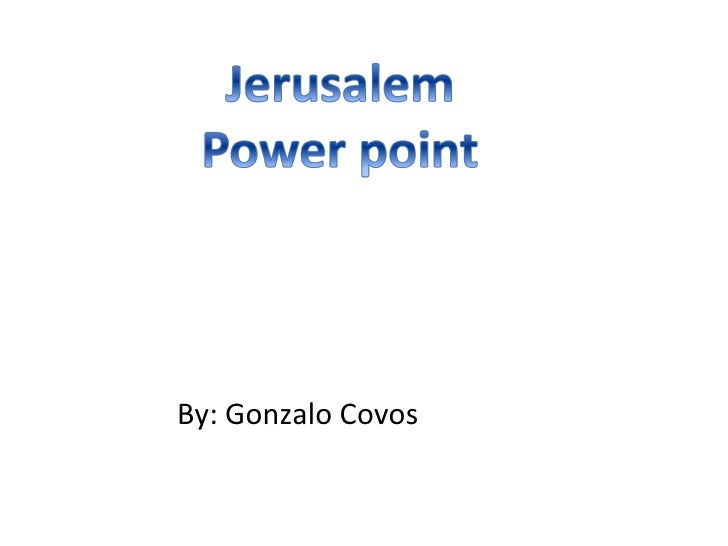 Jerusalem -  Gonzi 5L
