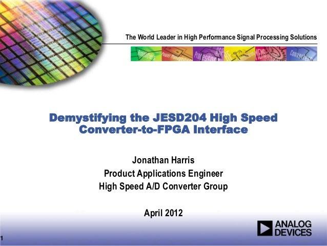Demystifying the JESD204B High-speed Data Converter-to-FPGA interface