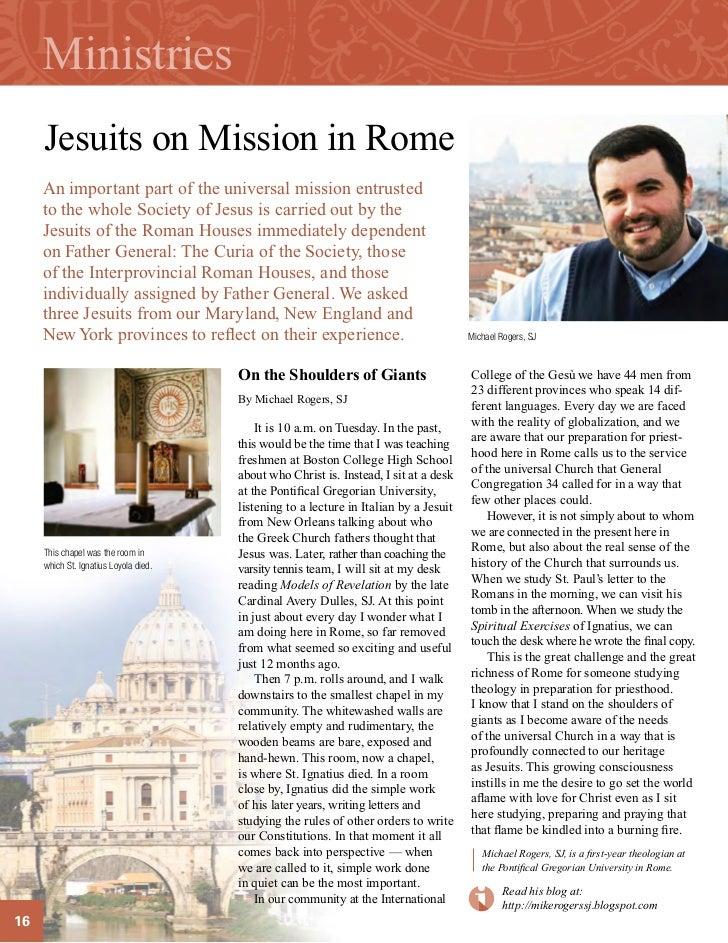 Mission Magazine Jesuit Ministries Jesuits on Mission
