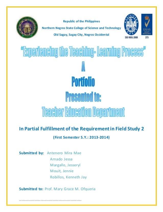 field study on experiencing the teaching learning process Experiencing the teaching-learning process brenda corpuz.