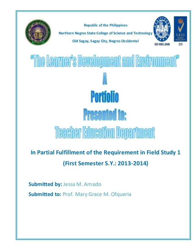 portfolio education and field study Aspects of the field of study, therefore it is recommended for any competence- centered educational  keywords: portfolio, psycho-pedagogy, higher education.