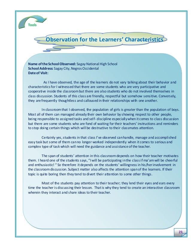 preschool observation 3 essay