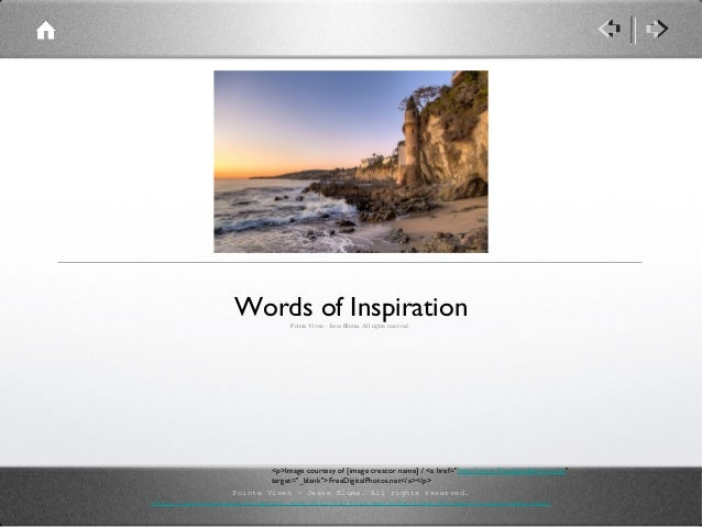 Words of Inspiration Jesse Bluma Pointe Viven