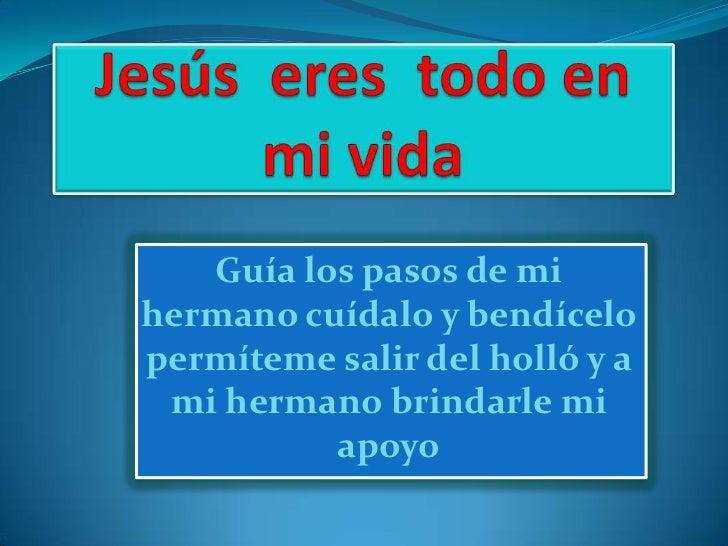 jesus en mi vida: