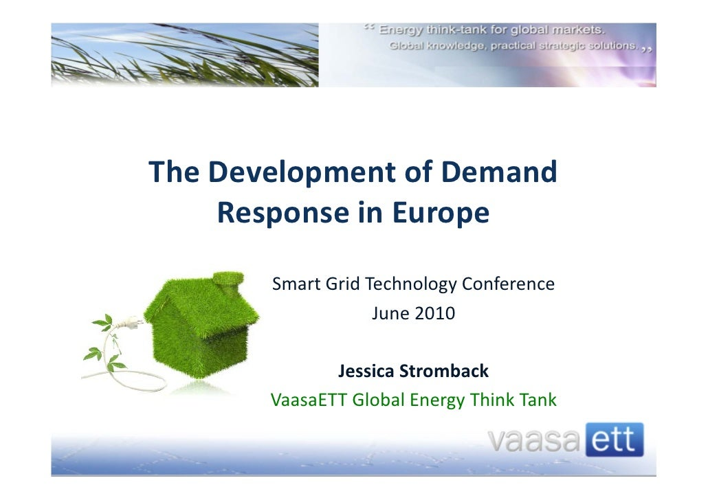 The Development of Demand      Response in Europe                             Smar...