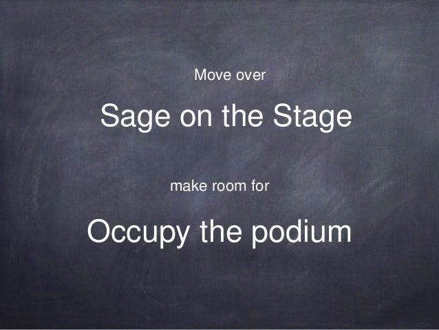 """ETUG Spring Workshop 2014 - Move Over """"Sage on the Stage"""""""