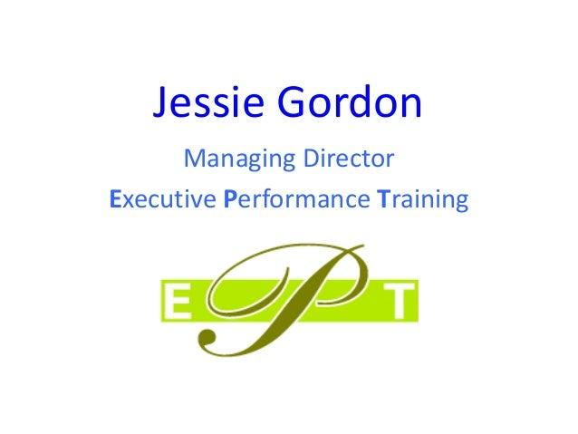 Jessie Gordon Managing Director Executive Performance Training