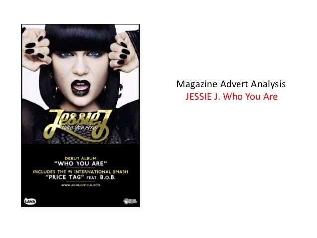 Magazine Advert Analysis JESSIE J. Who You Are