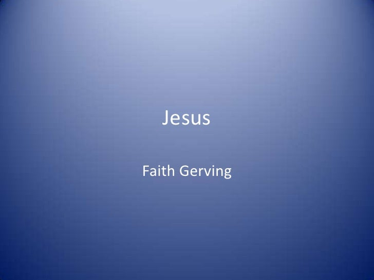 JesusFaith Gerving