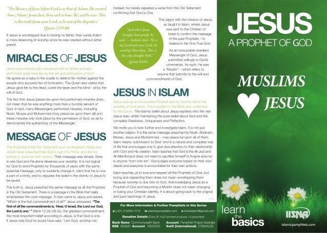 Jesus A Prophet of GOD Muslims Jesus