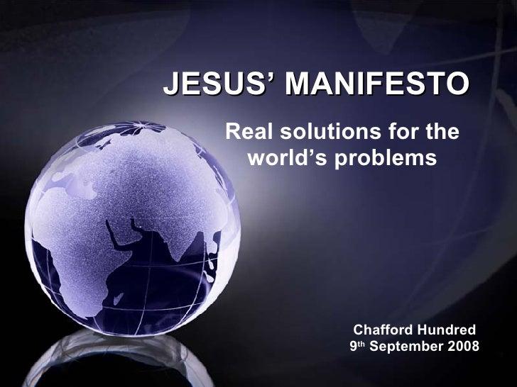 Jesus' Manifesto