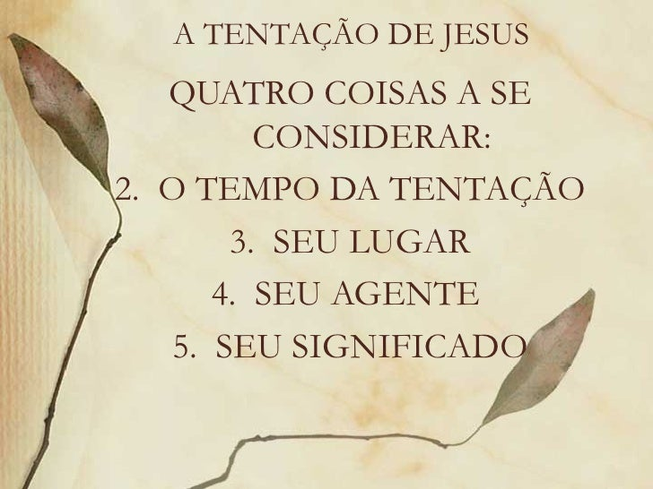 Jesus: a tentação ( Jesus and the desert temptation)