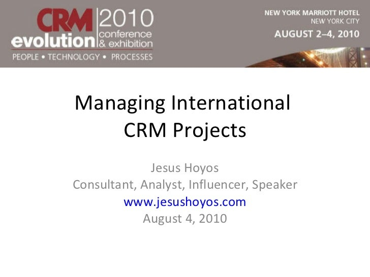 Managing International CRM Projects